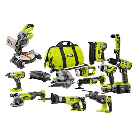 ryobi one 18 volt lithium ion all in 1 diy combo kit 12