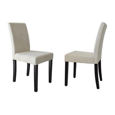 clara lot de 2 chaises de salle 224 manger en tissu couleur