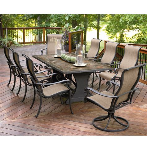 agio international panorama  pc patio dining set shop