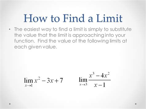 How To Find Intro To Limits Sections 1 2 1 3 Ppt