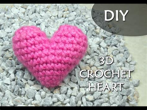 crochet heart pattern free youtube crochet pattern 3d or puffy crochet heart patrones