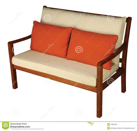 wooden sofa cushions wooden sofa with cushion royalty free stock photo image