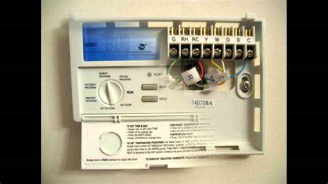 programmable thermostat lux products txe youtube