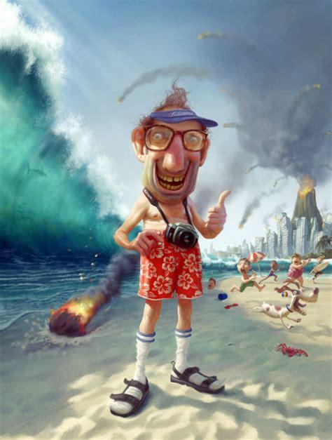 design magazine tiago krusse humorous digital illustrations by tiago hoisel