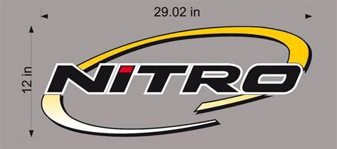 nitro boats sticker nitro boats logo decal vinyl sticker graphic ebay