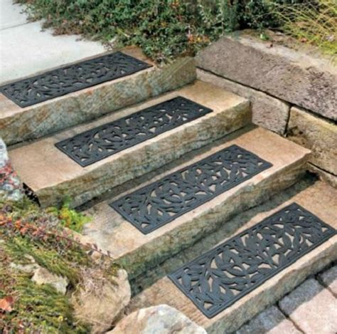 Decorative Rubber Stair Treads outdoor decorative leaf rubber stair treads non slip deck