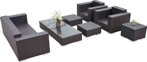 7 wicker sectional sofa outsunny 7 wicker outdoor sectional sofa set patio