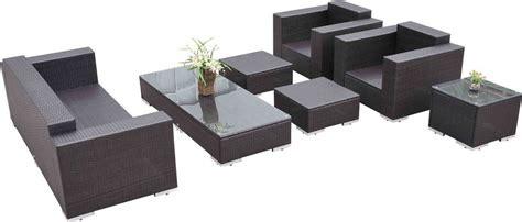 7 piece sectional sofa outsunny 7 piece wicker outdoor sectional sofa set patio