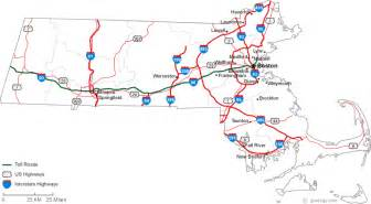 Massachusetts Road Map by Map Of Massachusetts