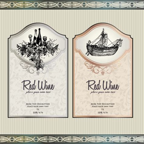 wine label design vector free vector wine labels collection free vector download