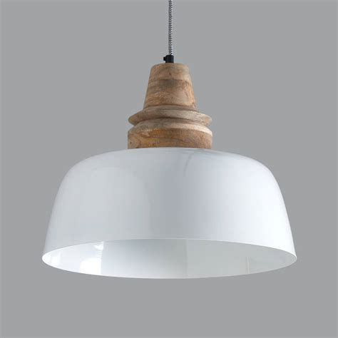 white wood pendant light margo white and wood pendant light by horsfall wright