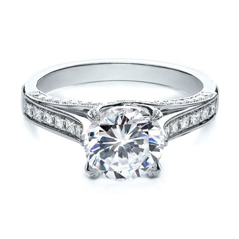princess cut engagement ring 195