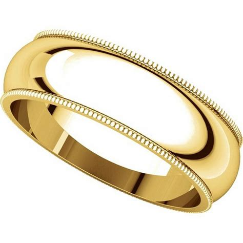 Comfort Wedding Bands by Th23886 14k Gold 6mm Milgrain Comfort Fit Wedding Band