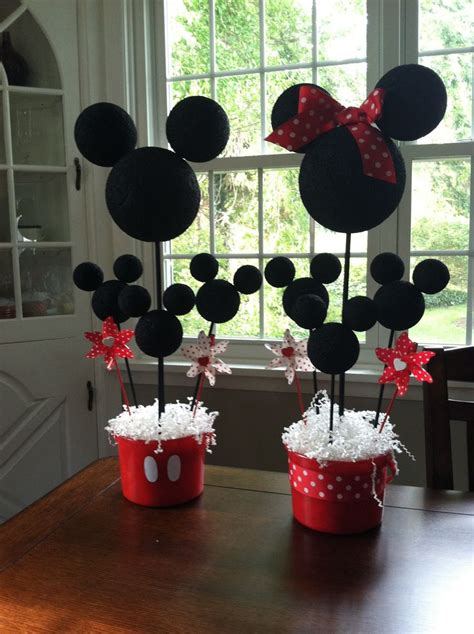 Mickey Mouse Handmade Decorations - mickey and minnie mouse centerpieces diy mickey mouse