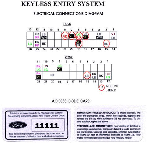 ford keyless entry key pad installation article 1