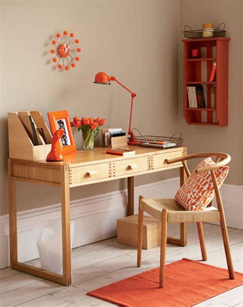 simple home office unique decoration simple home office orange accents
