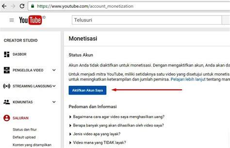 Adsense Youtube Indonesia | daftar google adsense melalui youtube strategi internet