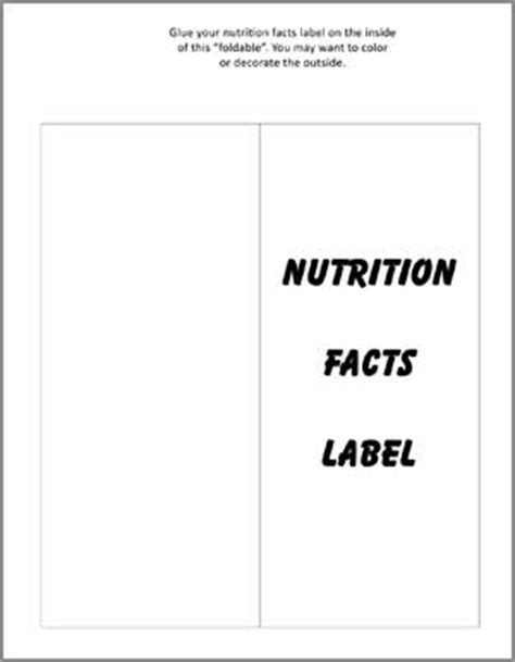 sle label template blank nutrition facts sheet nutrition ftempo