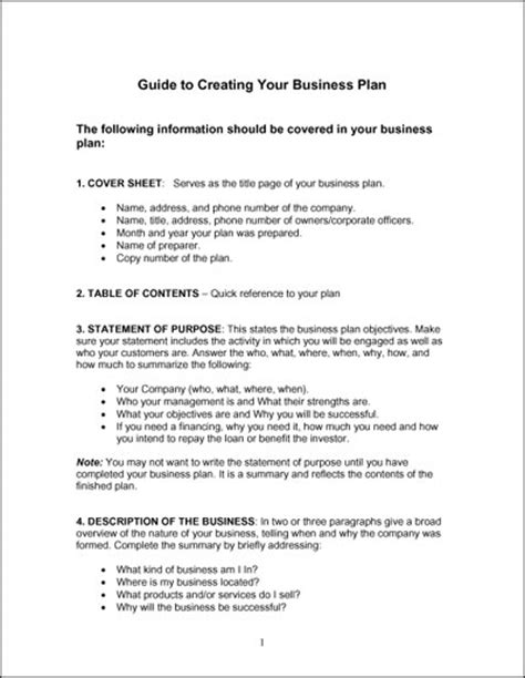 sample simple business plan template best template design images