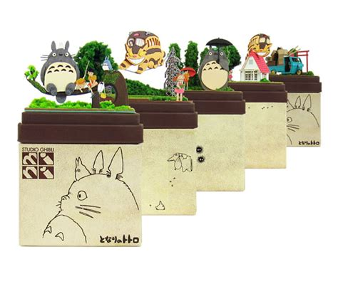 Ghibli Papercraft - studio ghibli mini paper craft kit my totoro 05