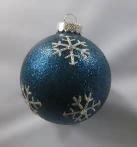 christmas ornaments by eb midnight snowflake glitter