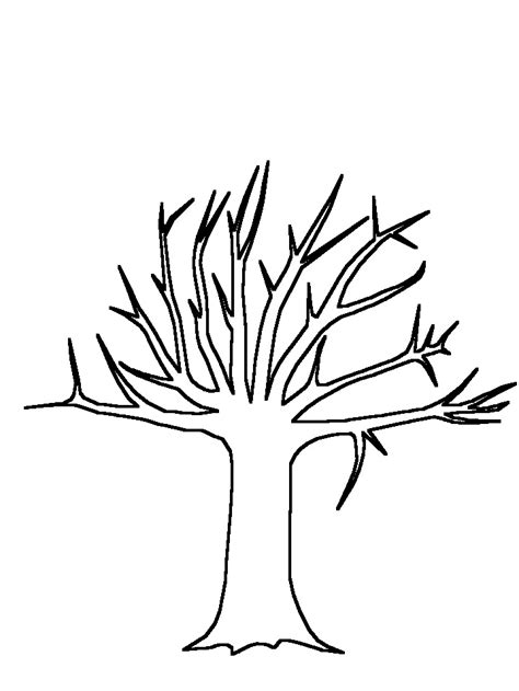tree trunk with branches template tree trunk template clipart best