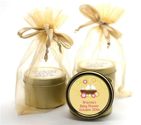 Gold Baby Shower Favors by Bird S Nest Gold Tin Candle Favors Candles Favors