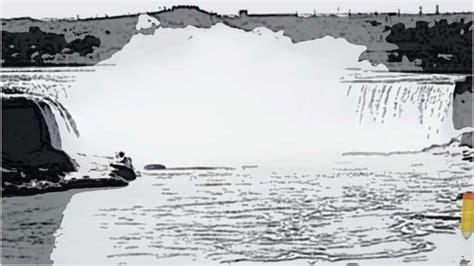 Niagara Falls Horseshoe Being Draw Youtube Niagara Falls Coloring Page