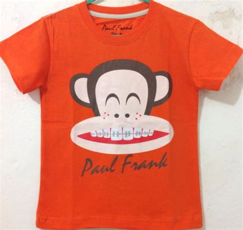 Baju Setelan Paul Frank baju karakter paul frank orange 7 10th pusat grosir baju anak branded kaos anak disney