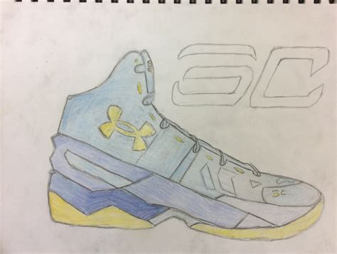 Curry 4 Sketches by Stephen Curry Shoe Sketchbook Drawing Presleywsart