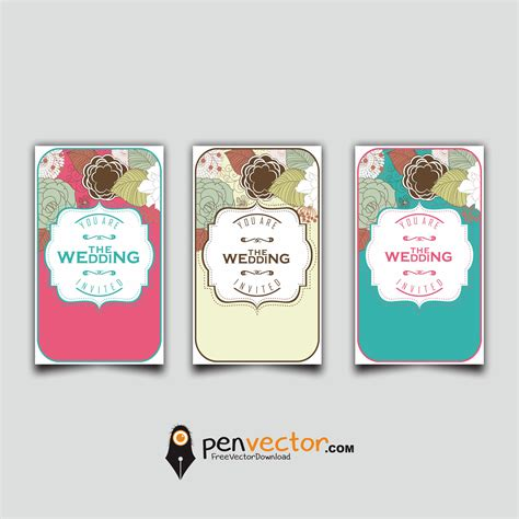Wedding Card Design Cdr File Free by Souvenir Wedding Card Design Vector Free Vector