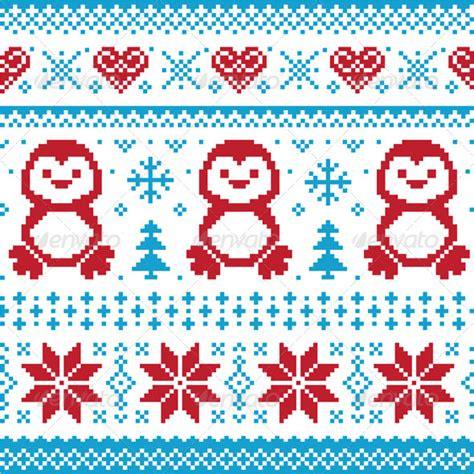 pattern natalizi illustrator stock vector graphicriver winter knitted pattern with