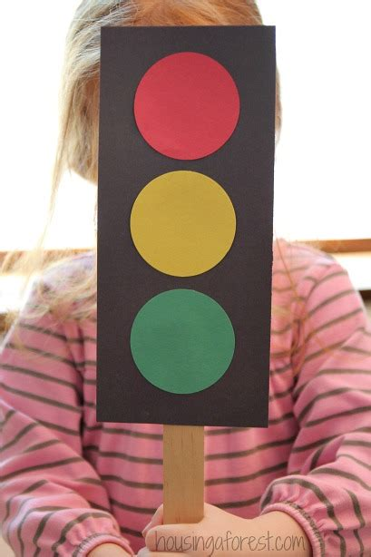 traffic light craft for how to make a traffic light housing a forest