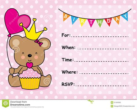 Birthday Invitation Card Template by Birthday Card Invitations Birthday Card Invitations For