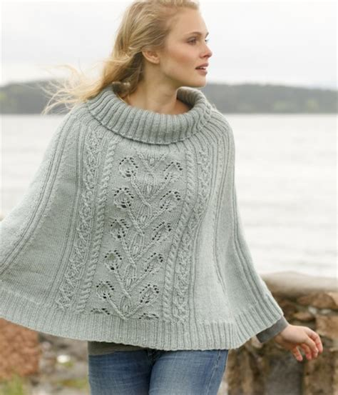 knitted poncho for poncho knitting patterns in the loop knitting