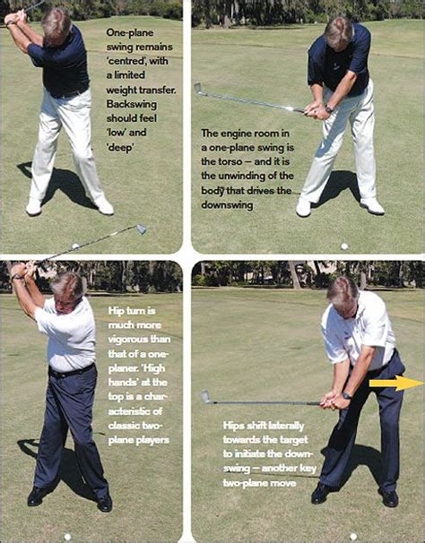 one plane swing one two plane golf swings a guide golf tips