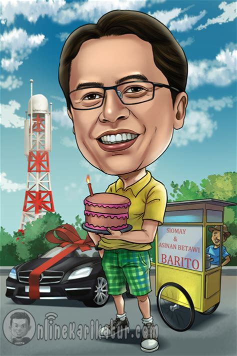 Ilustrasi Wajah Kado Ulang Tahun karikatur ulang tahun jasa karikatur terbaik