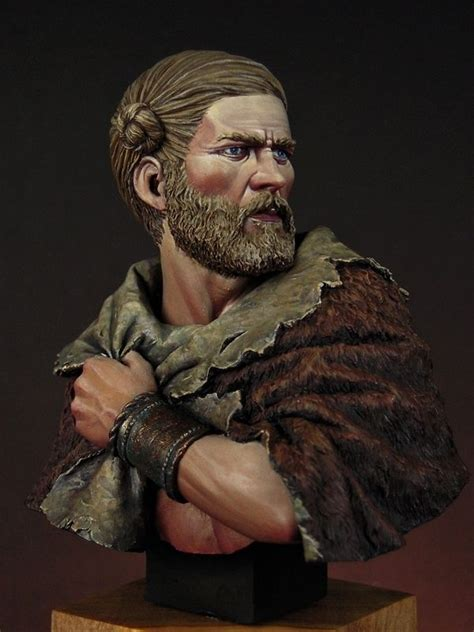 viking anglo saxon hairstyles model of germanic man with well trimmed beard and neat