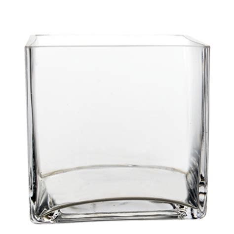 Cheap Rectangle Vases by Cube Vase 4 Quot X4 Quot X4 Quot Wholesale Lot Clear Square Cube Vase