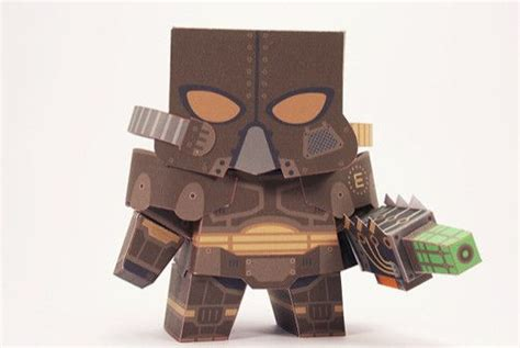Fallout Papercraft - fallout 3 enclave soldier free paper