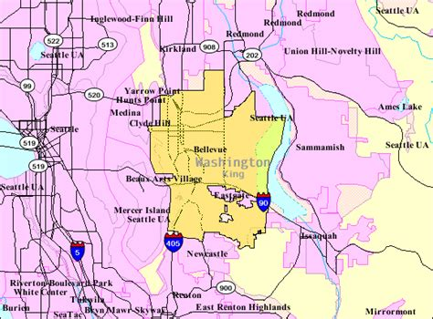 washington dc limits map zip code bellevue washington map