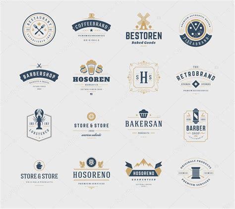 logo design elements rar vintage logos design templates set vector design elements