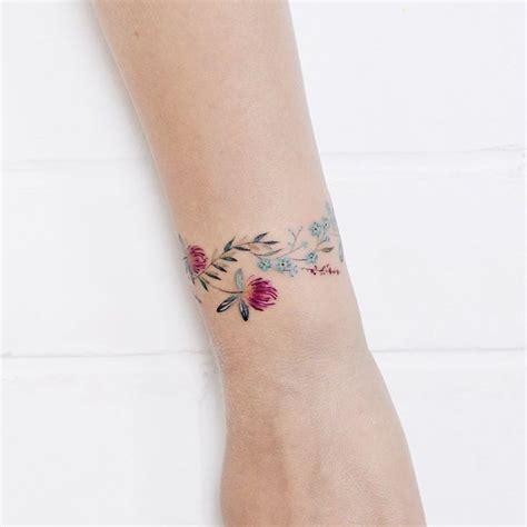 wrist tattoo cover up bracelet flower bracelet by lena fedchenko 183 moscow
