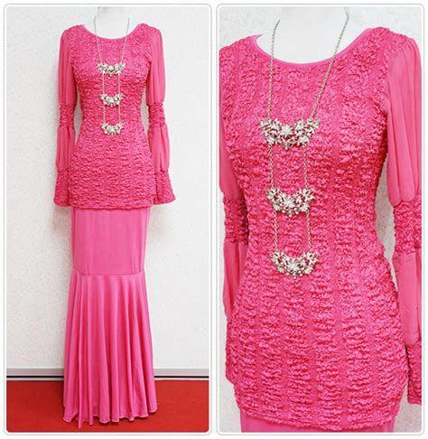 Baju Kurung Pink Hijau baju kurung empire