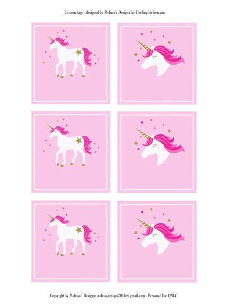 free printable unicorn tags unicorn blank label tags parties upbeat unicorns