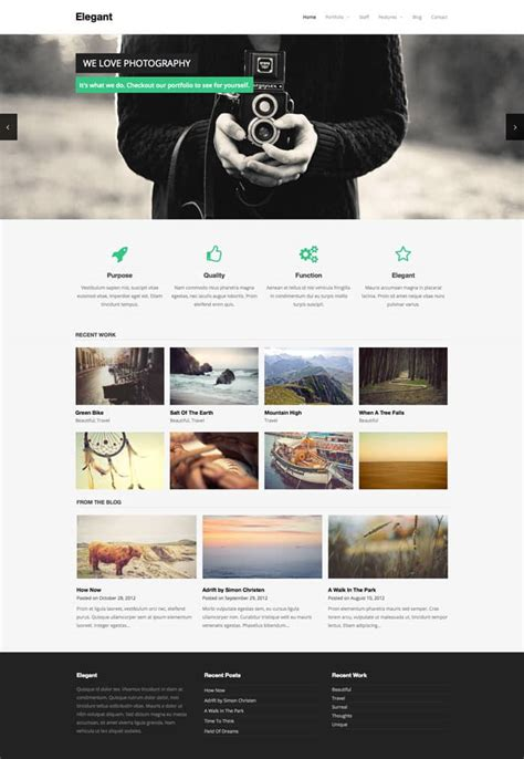 elegant free wordpress theme of the week web design blog