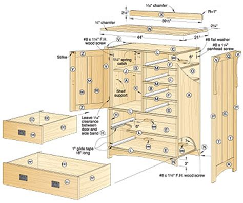 wooden chest  drawers plans  woodworking