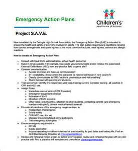 emergency plan template emergency plan template 8 free sle exle