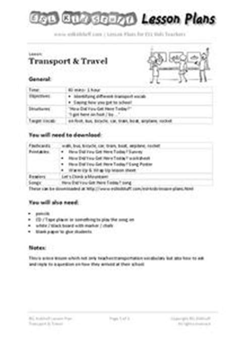 transport travel 3rd 9th grade lesson plan lesson planet