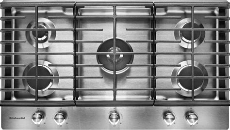 best buy gas cooktop kitchenaid 36 quot built in gas cooktop stainless steel